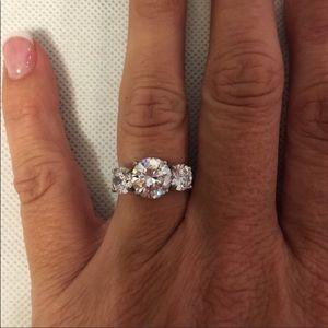 3 1/2 carat Moissanite Ring